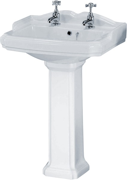 Additional image for Legend 4 Piece Bathroom Suite, 580mm Basin (2 Tap Holes).