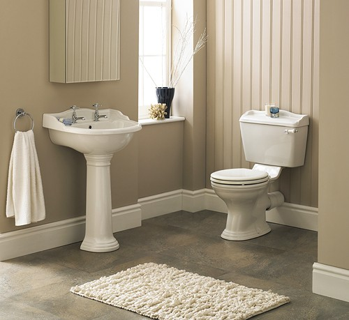 Additional image for Ryther 4 Piece Bathroom Suite With 600mm Basin (2 Tap Holes).