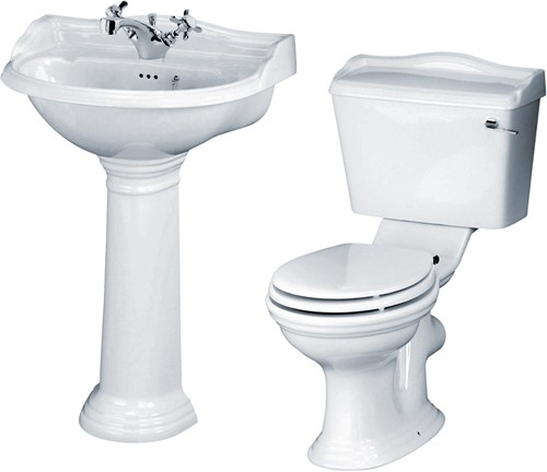 Additional image for Ryther 4 Piece Bathroom Suite With 600mm Basin (1 Tap Hole).