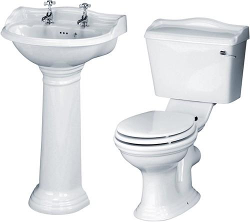 Additional image for Ryther 4 Piece Bathroom Suite With 500mm Basin (2 Tap Holes).