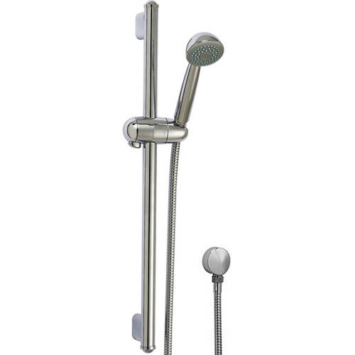 Additional image for Slide Rail Kit With Wall Outlet, Handset & Hose (Chrome).