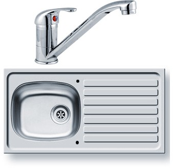 Additional image for Kitchen Sink, Waste & Tap. 940x490mm (Reversible).