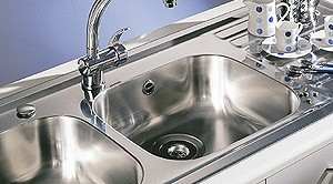 Additional image for Kitchen Sink & Waste. 860x435mm (Reversible, 1 Tap Hole).