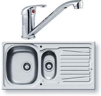 Additional image for Sparta Kitchen Sink, Tap & Waste. 1000x500mm (1.5 Bowl).