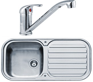 Additional image for Kitchen Sink, Tap & Waste. 960x480mm (Reversible, Deep Bowl).