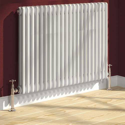 Additional image for Colona 2 Column Radiator (White). 500x605mm.