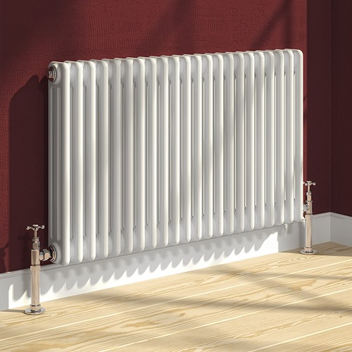 Additional image for Colona 3 Column Radiator (White). 600x605mm.