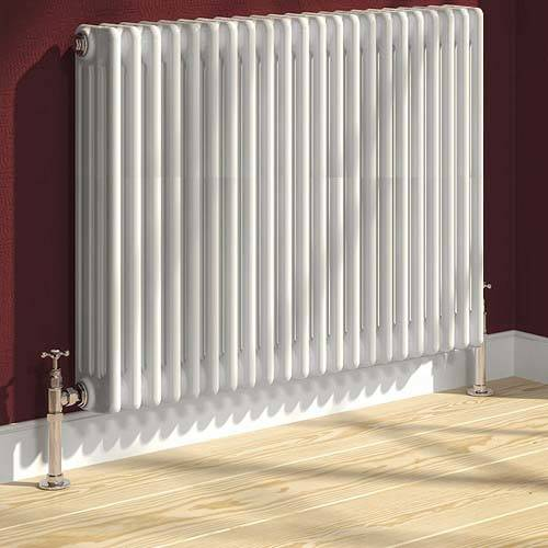 Additional image for Colona 4 Column Radiator (White). 500x605mm.