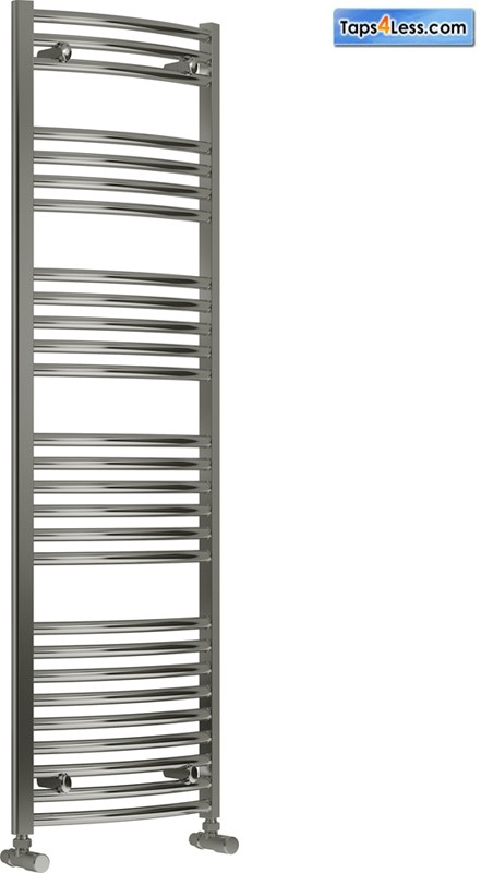 Additional image for Diva Curved Towel Radiator (Chrome). 1600x400mm.