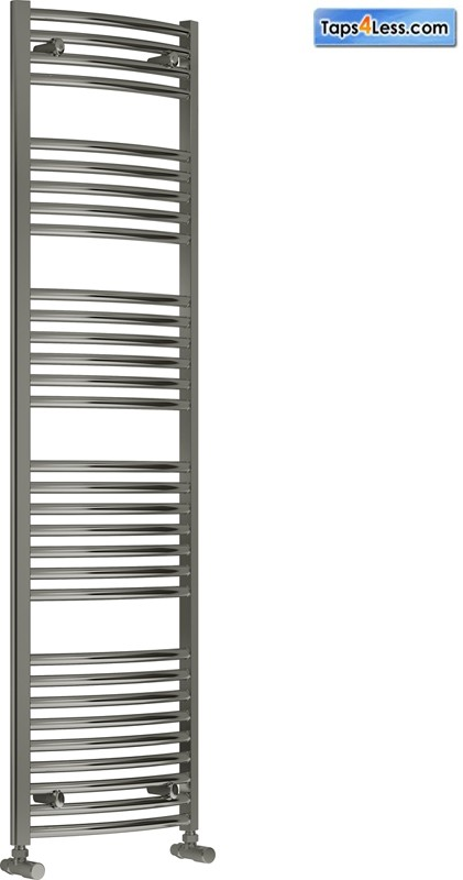 Additional image for Diva Curved Towel Radiator (Chrome). 1800x450mm.