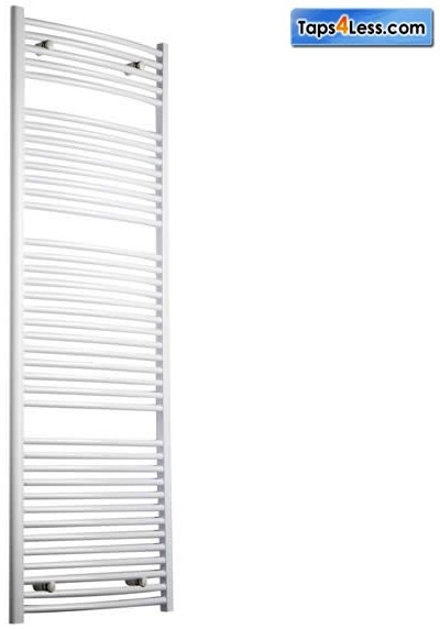 Additional image for Diva Curved Towel Radiator (White). 1800x600mm.