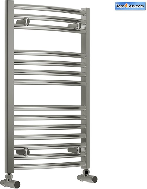 Additional image for Diva Curved Towel Radiator (Chrome). 800x750mm.