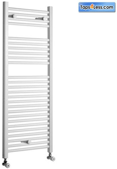 Additional image for Diva Flat Towel Radiator (White). 1200x300mm.