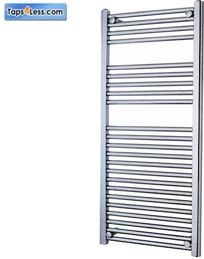 Additional image for Diva Flat Towel Radiator (Chrome). 1200x450mm.