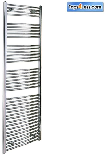 Additional image for Diva Flat Towel Radiator (Chrome). 1600x500mm.