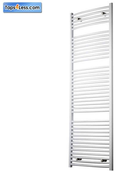Additional image for Diva Flat Towel Radiator (White). 1800x400mm.