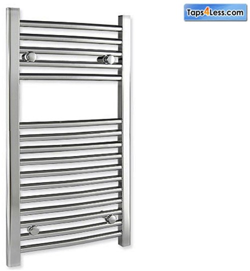 Additional image for Diva Flat Towel Radiator (Chrome). 800x400mm.