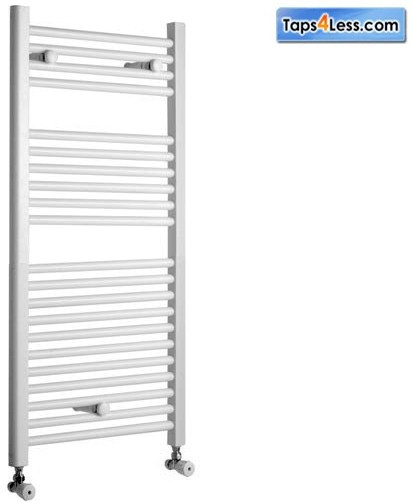 Additional image for Diva Flat Towel Radiator (White). 800x400mm.