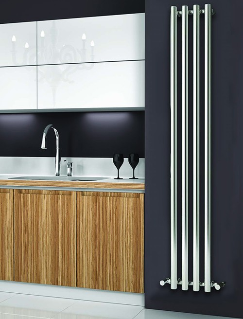 Additional image for Oria Vertical Radiator (Chrome).270x1800mm.