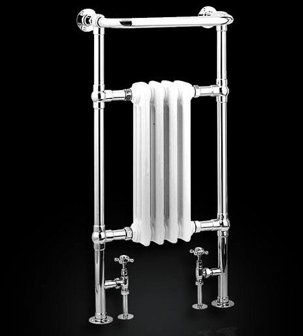 Additional image for Alicia Traditional Towel Radiator (Chrome). 495x960mm.