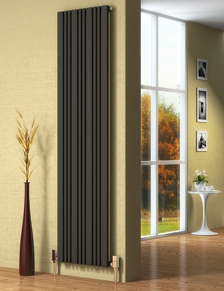 Additional image for Bonera Vertical Radiator (Anthracite). 324x1800mm.
