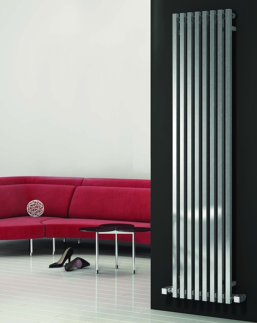 Additional image for Cascia Vertical Radiator (Chrome).400x1800mm.