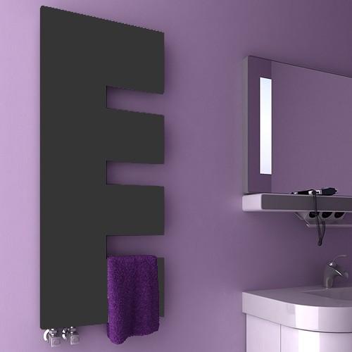 Additional image for Ella Designer Radiator (Anthracite). 500x1200mm.