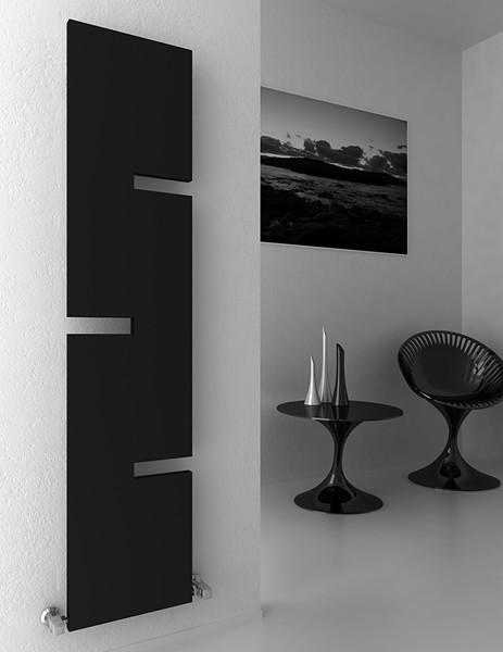 Additional image for Fiore Designer Radiator (Anthracite). 400x1800mm.
