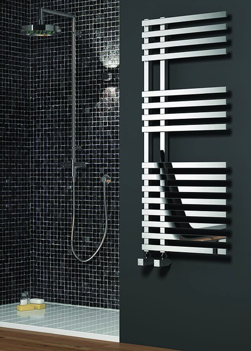 Additional image for Felino Towel Radiator (Chrome). 775x500mm.
