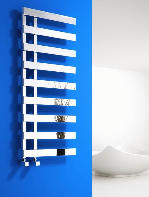 Additional image for Florina Towel Radiator (Chrome). 800x500mm.