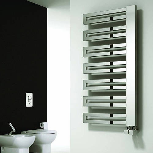 Additional image for Ginosa Towel Radiator (Chrome). 1000x500mm.