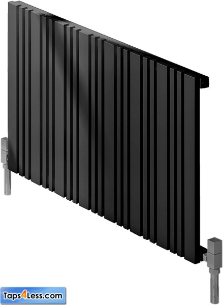 Additional image for Bonera Horizontal Radiator (Anthracite). 456x550mm.