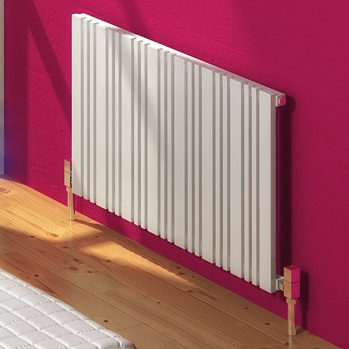 Additional image for Bonera Horizontal Radiator (White). 588x550mm.