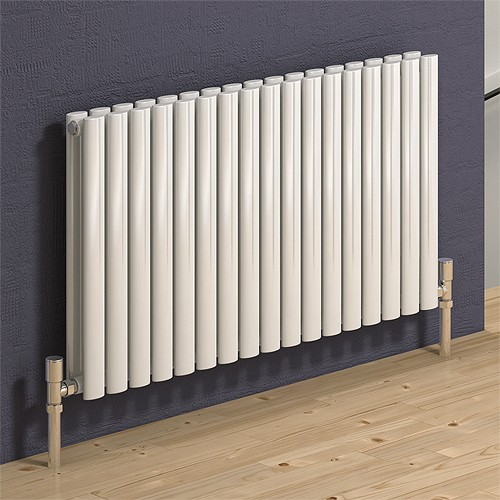 Additional image for Neva Horizontal Double Radiator (White). 590x550mm.