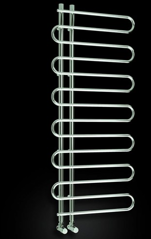 Additional image for Jesi Towel Radiator (Chrome). 500x1000mm.