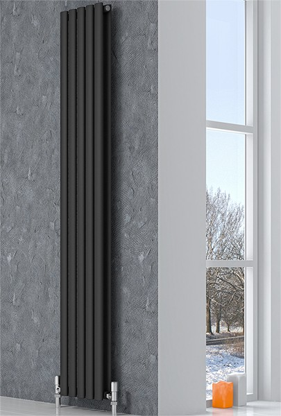 Additional image for Neva Vertical Double Radiator (Anthracite). 413x1500mm.