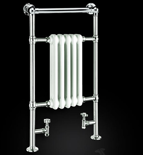 Additional image for Oxford Traditional Towel Radiator (Chrome). 538x960mm.