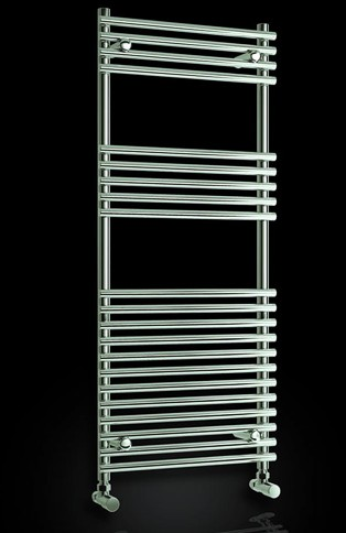 Additional image for Pavia Towel Radiator (Chrome). 600x1200mm.