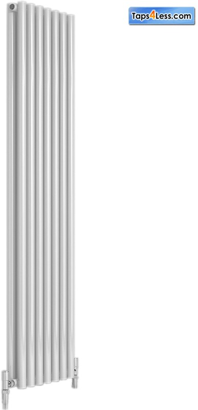 Additional image for Round Double Vertical Radiator (White). 295x1800mm.