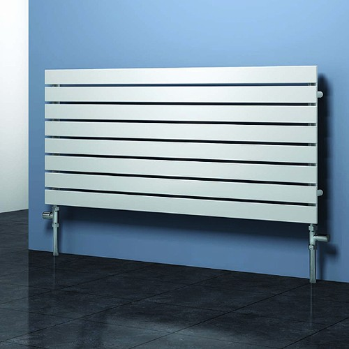 Additional image for Rione Horizontal Radiator (White). 1200x550mm.
