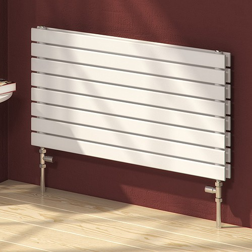 Additional image for Rione Horizontal Double Radiator (White). 600x550mm.