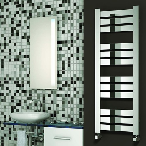 Additional image for Riva Towel Radiator (Chrome). 960x500mm.