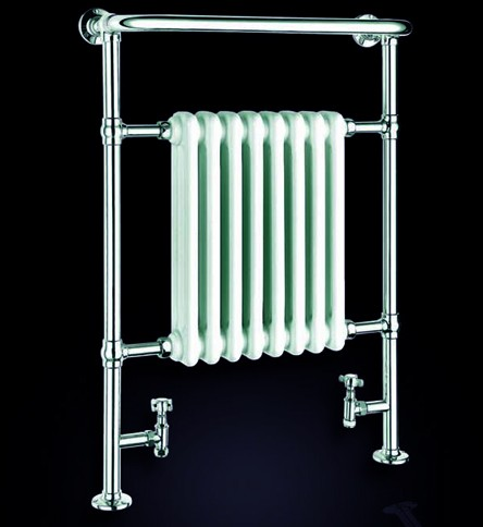 Additional image for Victoria Traditional Towel Radiator (Chrome). 675x960mm.
