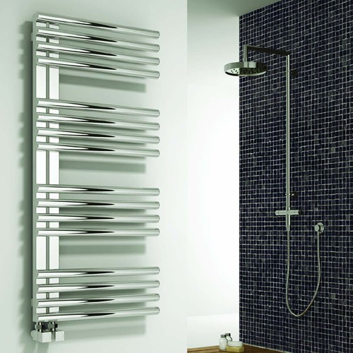Additional image for Adora Towel Radiator (Stainless Steel). 1106x500mm.