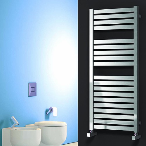 Additional image for Aosta Towel Radiator (Stainless Steel). 1220x530mm.