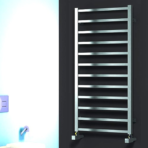 Additional image for Arden Towel Radiator (Satin Stainless Steel). 500x500.