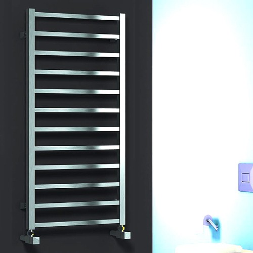 Additional image for Arden Towel Radiator (Polished Stainless Steel). 500x500.
