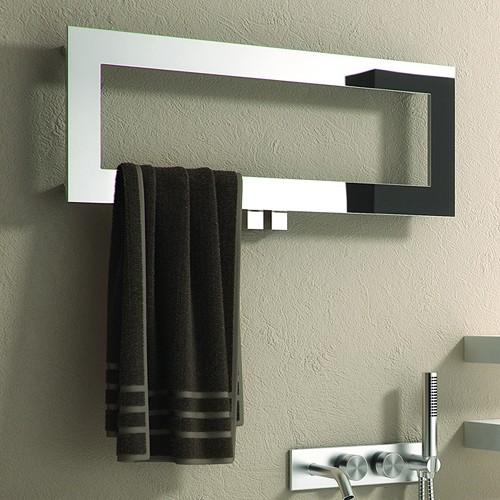 Additional image for Bivano Designer Towel Radiator (Stainless Steel). 300x800.