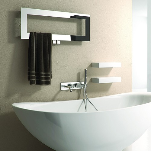 Additional image for Bivano Designer Towel Radiator (Stainless Steel). 300x800.