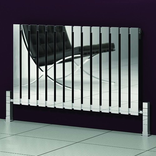 Additional image for Calix Radiator (Polished Stainless Steel). 660x600mm.